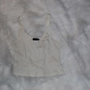 Brandy Melville || White Crop Tank